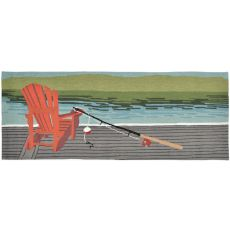 "Liora Manne Frontporch Lakeside Indoor/Outdoor Rug - Blue, 27"" By 72"""