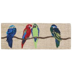 "Liora Manne Frontporch Parrots Indoor/Outdoor Rug - Natural, 27"" by 72"""