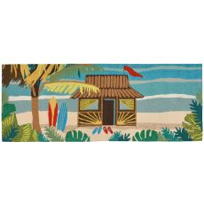 "Liora Manne Frontporch Tiki Hut Indoor/Outdoor Rug - Multi, 27"" By 72"""