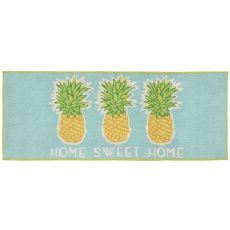 "Liora Manne Frontporch Home Sweet Home Indoor/Outdoor Rug - Blue, 27"" by 72"""