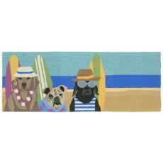 """Liora Manne Frontporch Beach Patrol Indoor/Outdoor Rug - Multi, 27"""" by 72"""""""