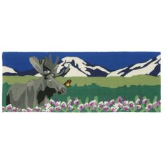 "Liora Manne Frontporch Moose Indoor/Outdoor Rug - Green, 27"" by 72"""