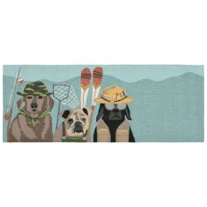 "Liora Manne Frontporch Fishing Patrol Indoor/Outdoor Rug - Multi, 27"" By 72"""