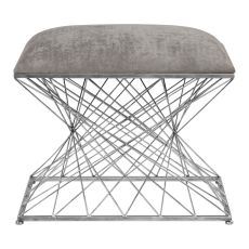 Uttermost Zelia Silver Accent Stool