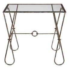 Uttermost Primrose Burnished Silver Accent Table