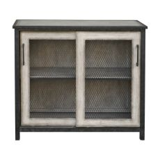 Uttermost Dylan Wire-Mesh Accent Cabinet In Aged Driftwood Gray
