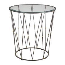 Uttermost Hewett Round Caged Accent Table