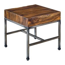 Uttermost Delsin Wood Slab End Table