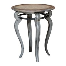 Uttermost Mariah Round Gray Accent Table