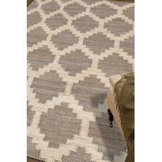 Naturals Tribal Pattern Gray/Ivory Hemp Area Rug (9X12)