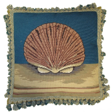 Fanshell Needlepoint Pillow