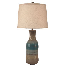Faux Clay Water Jug Lamp - 29.5""