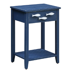 Nautical Accent Table with Fish