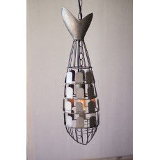 Metal Fish Pendant Light