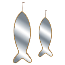 Fish Shaped Mirrors (set of 2)