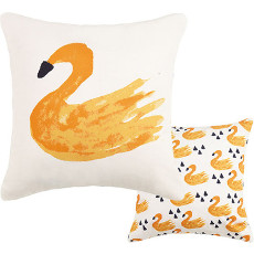 Swan Reversible Canvas Pillow