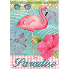 Flamingo Paradise Garden Dura Soft Flag