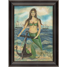 Found In The Heart Of Nantucket Bay Mermaid Framed Art