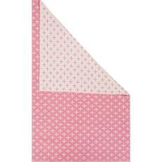 Flatweave Tribal Pattern Pink/Ivory Cotton Area Rug (8X11)
