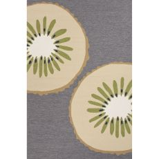 Indoor/Outdoor Abstract Pattern Gray/Ivory Polypropylene Area Rug (7.6X9.6)