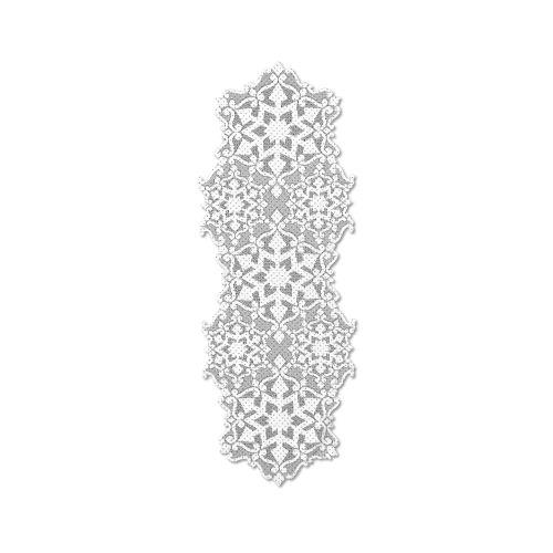 Glisten 14X40 Table Runner W/ Glitter, White