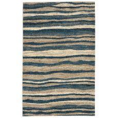 "Liora Manne Gobi Waves Indoor/Outdoor Rug - Blue, 4'10"" by 7'6"""
