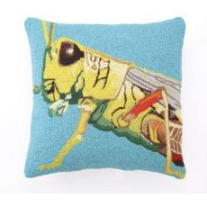 Grasshopper Hooked Pillow