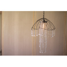 Wire and Gems Jellyfish Pendant Lamp