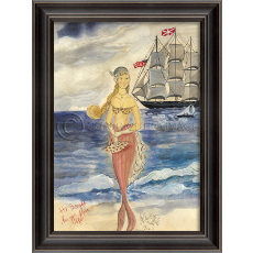 Gift From Afar Mermaid Framed Art