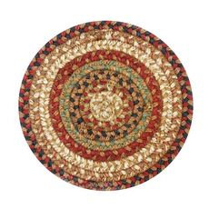 "Homespice Decor 8"" Trivet Round Gingerbread Jute Braided Accessories"