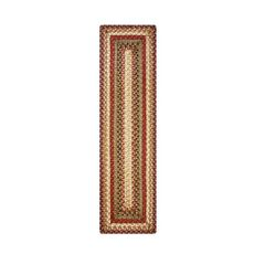 "Homespice Decor 8"" x 28"" Small Table Runner Rect. Gingerbread Jute Braided Accessories"