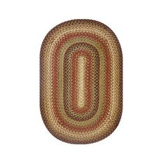 "Homespice Decor 20"" x 30"" Oval Gingerbread Jute Braided Rug"