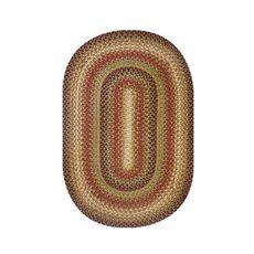 "Homespice Decor 27"" x 45"" Oval Gingerbread Jute Braided Rug"
