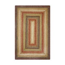 Homespice Decor 6' x 9' Rect. Gingerbread Jute Braided Rug
