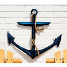 Glass Metal Wall Decor, Anchor