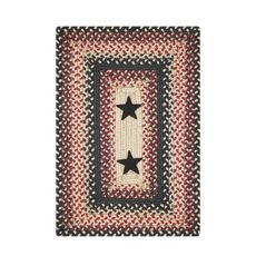 "Homespice Decor 13"" x 19"" Placemat Rect. Primitive Star Gloucester Jute Braided Accessories"