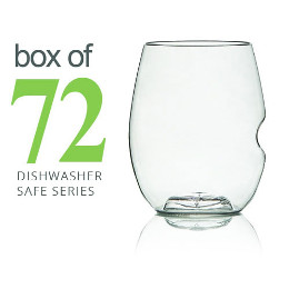Govino Shatterproof White Wine Glasses Dishwasher Safe, (set of 72)
