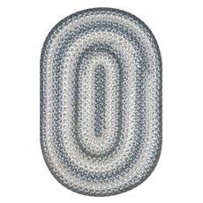 "Homespice Decor 27"" x 45"" Oval Graphite Ultra Durable Braided Rug"