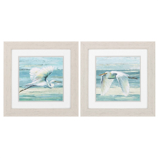 Great Egret Framed Art Set of 2