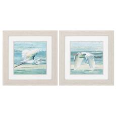 Great Egret Framed Art Set of 2