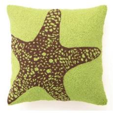 Green Bg Starfish Hook Pillow