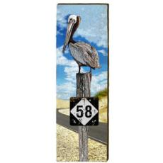 Beach Highway Sign Wall Art
