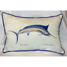 Blue Marlin Indoor Outdoor Pillow