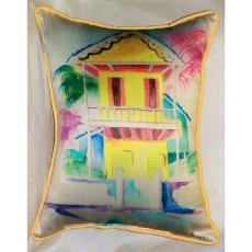 W. Palm Hut Yellow Large Pillow