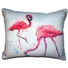 Funky Flamingos Large Indoor Outdoor Pillow