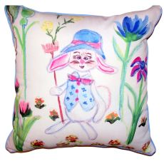 Mrs. Farmer Large Indoor Outdoor Pillow