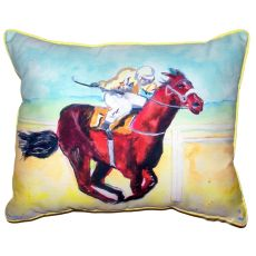 Airborne Horse Large Indoor Outdoor Pillow