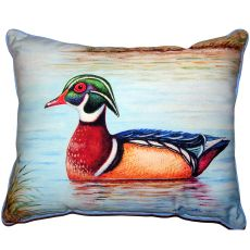 Male Wood Duck Ii Large Indoor Outdoor Pillow