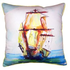 Tall Ship Large Indoor Outdoor Pillow