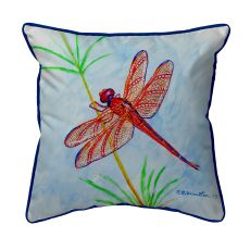 Red Dragonfly Large Pillow 18X18